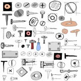 Hand drawn collection funny heads Royalty Free Stock Photo