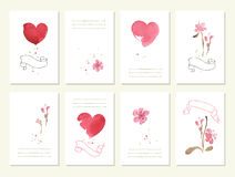 Hand drawn collection of romantic floral Stock Image