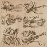 An hand drawn collection, vector pack - GUITAR SOLO Stock Photos