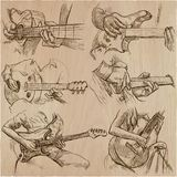 An hand drawn collection, vector pack - GUITAR SOLO Stock Photography