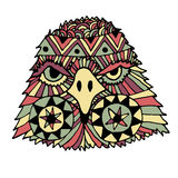 Hand drawn color eagle head Royalty Free Stock Images