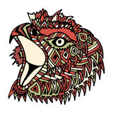 Hand drawn color eagle head Royalty Free Stock Photos