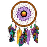 Hand drawn colored dreamcatcher Stock Photos