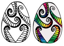 Hand drawn colorful abstract Easter egg Royalty Free Stock Photo