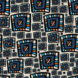 Hand drawn colorful abstract seamless patterns ornaments Stock Photos