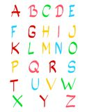 Hand drawn colorful alphabet letters isolated. On white background. illustration vector illustration