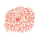 Hand drawn colorful firework Royalty Free Stock Image