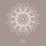 Hand drawn colorful floral mandala. Vintage oriental style. Indi Stock Image