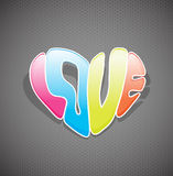 Hand drawn colorful love sign. Royalty Free Stock Image