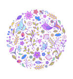 Hand drawn colorful pattern Stock Photography