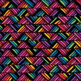 Hand drawn colorful seamless pattern Stock Photography