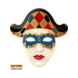 Hand drawn Venetian carnival Harlequin mask. Hand drawn colorful Venetian carnival Harlequin mask. Vector illustration vector illustration