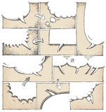 Hand Drawn Comic Book Page Template royalty free illustration