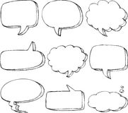 Hand drawn comic speech bubble Royalty Free Stock Photos
