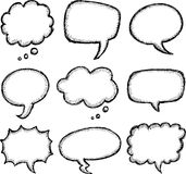 Hand drawn comic speech bubble Royalty Free Stock Photography