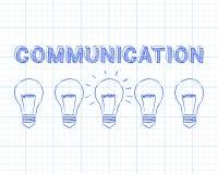 Communication Light Bulbs Graph Paper Stock Photo
