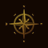 Hand drawn compass wind rose symbol Royalty Free Stock Images