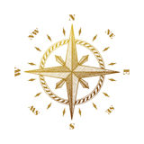 Hand drawn compass wind rose symbol Royalty Free Stock Photo