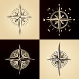 Hand drawn compass wind rose symbol Royalty Free Stock Photography