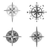 Hand drawn compass wind rose symbol Stock Photography