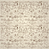 Hand drawn computer icons set. Stock Images