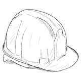 Hand-drawn constructions helmet icon. Vector EPS8 Stock Photos