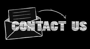 Hand drawn contact icons illustration Royalty Free Stock Photography