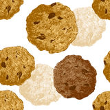 Hand drawn cookie seamless Royalty Free Stock Photo