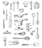 Hand-drawn Cookware Illustrations Stock Photos
