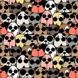 Hand Drawn Cool Dogs Pattern Background. Vector Illustration vector illustration