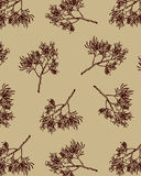 Hand drawn Coral Seamless Pattern Vector. Royalty Free Stock Images
