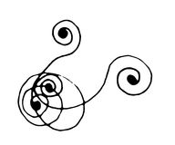 Free Hand Drawn Corner Scroll Stock Image - 2229361