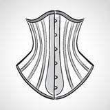 Hand drawn corset Royalty Free Stock Image