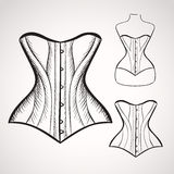Hand drawn corset Royalty Free Stock Photo