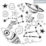 Space set vector illustration