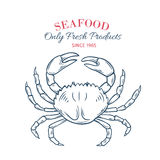 Hand drawn crab icon. Royalty Free Stock Photography
