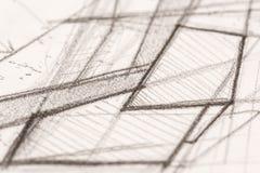 Hand Drawn Crayon Hachure Stock Photo