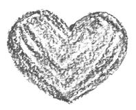 Hand drawn, crayon heart shape Royalty Free Stock Image