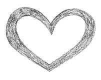 Hand drawn, crayon heart shape Royalty Free Stock Images