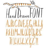 Hand drawn creative ABC letters set. Upper and lower case. Doodle comic font for your design Royalty Free Illustration