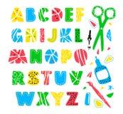 Hand drawn creative alphabet Royalty Free Stock Photography