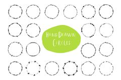 Hand drawn creative circle for logo, label, branding Royalty Free Stock Photo