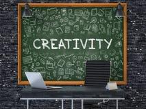 Hand Drawn Creativity on Office Chalkboard. Royalty Free Stock Photography