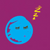 Hand drawn creature sleeping vector illustration Royalty Free Stock Photography