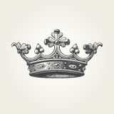 Hand drawn crown Stock Images