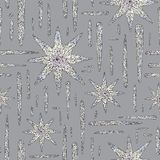 Hand drawn crystals pattern. Abstract stars seamless background. Vector texture for wallpaper, wrapping paper, textile. Hand drawn crystals pattern. Abstract Stock Image