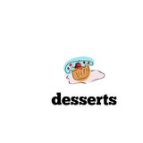 Hand drawn cupcake icon for menu and lettering Vector illustration. Royalty Free Stock Photos