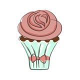 Hand drawn cupcake Royalty Free Stock Photo