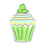 Hand drawn cupcake Stock Images
