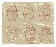 Hand drawn cupcake Stock Photos